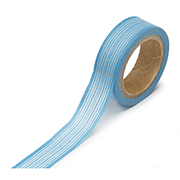 "Blue Horizontal Stripe -  5/8""x315"" Roll"