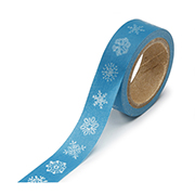"Blue With White Snowflakes -  5/8""x315"" Roll"