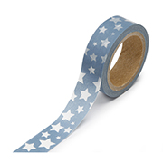 "Blue With White Stars -  5/8""x315"" Roll"