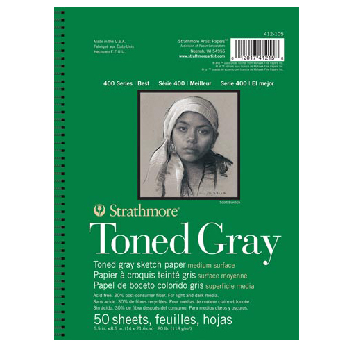 "9""x12"" Gray - 50 Sheet Pad"