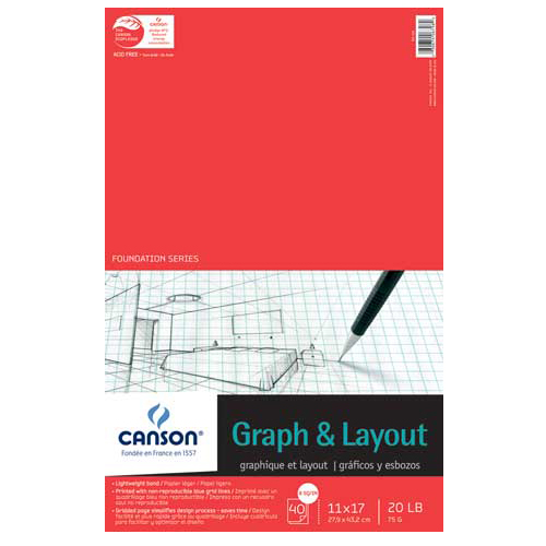"11""x17"" - 4x4 Grid - 12 Sheet Pad"