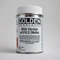 Golden MSA Matte Varnish with UVLS