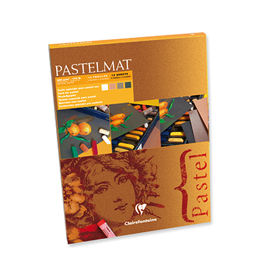 Pastelmat 12 Sheet Pad - White, Anthracite, Sienna, Brown Sheets