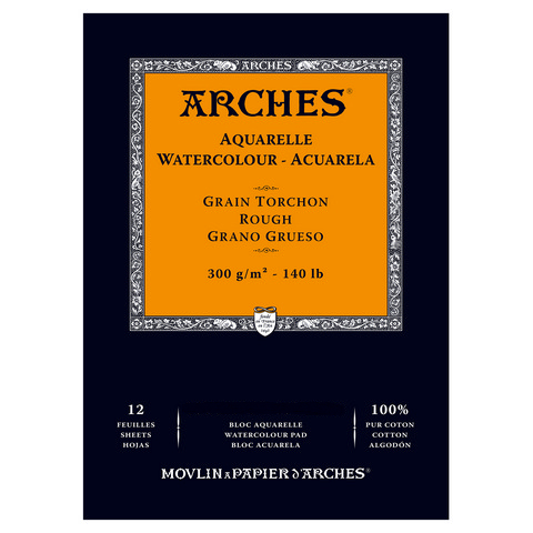 Arches 140lb Watercolor Pads - Rough Pressed