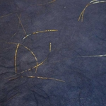 Blue with Gold Threads 25x37 Inch Sheet