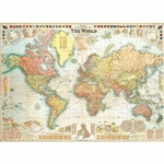 "Cavallini Decorative Paper - World Map #5 20""x28"" Sheet"