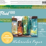 Fluid 100 Watercolor Paper Blocks - 140lb Hot Press