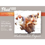 Fluid 100 Watercolor Paper Pochette - 140lb Cold Press