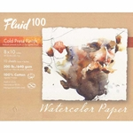 "Fluid 100 Watercolor Paper Pochette - 300lb Cold Press - 8""x10"" - 15 Sheet Pochette"