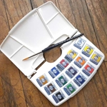 Van Gogh Water Colour Pocket Box - Special Offer 15 Half Pans and Brush