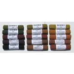 Mount Vision Pastels - Dark Earth Colors Set 15 Handmade Soft Pastels