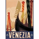 """Vintage Prints"" by Rossi of Italy- Venezia Gondole"