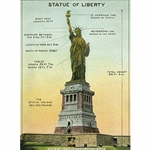 "Cavallini Decorative Paper-Statue of Liberty 20""x28"" Sheet"