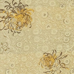 "Chinese Brocade Paper- Gold Chrysanthemum 26x16.75"" Sheet"