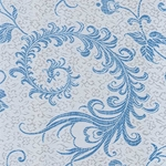 "Chinese Brocade Paper- Lucky Wedding Blue 26x16.75"" Sheet"