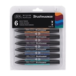 Winsor & Newton Brush Marker - 6 Rich Tones Set