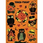 "Cavallini Decorative Paper- Halloween Wrap 20""x28"" Sheet"
