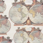 Tassotti Paper- Vintage World Maps 19.5x27.5 Inch Sheet