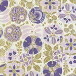 "Rossi Decorated Papers from Italy - Liberty Flowers Purple  28""x40"" Sheet"