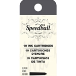 Speedball Fountain Pen Ink Cartridge 10 Piece Set Black