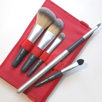 Silver Brush Beauty Brush 6 Piece Grey Handle - Red Case