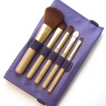 Silver Brush Beauty Brush 6 Piece Bamboo Handle - Purple Case