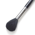 Silver Brush - Goat Hair Silver Mop - Black Round Mop