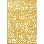 Amate Bark Paper from Mexico- Circular Woven Amarillo Yellow 15.5x23 Inch Sheet