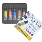 Sennelier French Artist l'Aquarelle Watercolor Test Pack - Set of 5