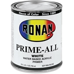 Ronan Prime-All Water Based Acrylic Primer - White - Quart