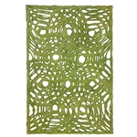 Amate Bark Paper from Mexico- Circular Woven Verde Limon Lime Green 15.5x23 Inch Sheet