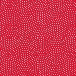 "Yuzen Silver Dots on Red 18""x24"" Sheet"