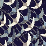 Japanese Chiyogami Paper - Cranes in Shades of Blue