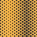 Dancing Dots Op Art Paper (Optical Illusion)- Black on Yellow