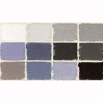 Diane Townsend Handmade Terrages Sets - Gray Tones Set of 12 Pastels
