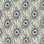 """NEW"" Rossi Decorated Papers from Italy - Peacock Feathers Blue 28""x40"" Sheet"
