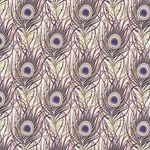 """NEW"" Rossi Decorated Papers from Italy - Peacock Feathers Purple 28""x40"" Sheet"