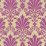 """NEW"" Rossi Decorated Papers from Italy - Purple Damask Flowers 28""x40"" Sheet"
