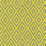 Zig Zag Steps Op Art (Optical Illusion) Paper- Yellow on Gray