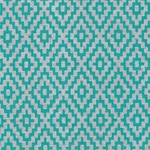 Zig Zag Steps Op Art (Optical Illusion) Paper- Silver on Turquoise