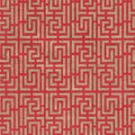 Endless Maze Op Art (Optical Illusion) Paper- Gold on Red