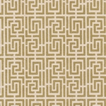 Endless Maze Op Art (Optical Illusion) Paper- Gold on Natural