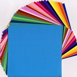 35 Assorted Bright Solid Color Origami Papers