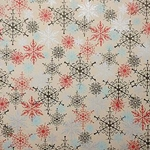 Holiday Paper & Wrap - Snowflakes on Brown Kraft Paper