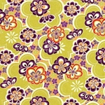 "Bright Floral in Lime, Purple, & Red - 18""x24"" Sheet"