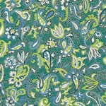 "Blue, Green, & Teal Paisley - 18""x24"" Sheet"