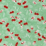 "Orange and White Koi Swimming in a Green Pond - 20""x26"" Sheet"