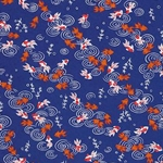 "Orange & White Koi in an Indigo Pond - 19""x26"" Sheet"