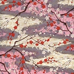 "White and Red Cherry Blossom - 19""x25"" Sheet"