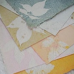 An-Jing Embossed Leaves Paper- Pack of Six Sheets